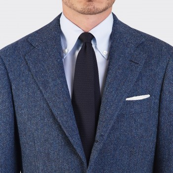 Veste Sport Tweed Chevrons : Bleu