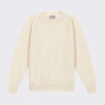 Brushed Wool Crewneck Knit : Natural Ecru