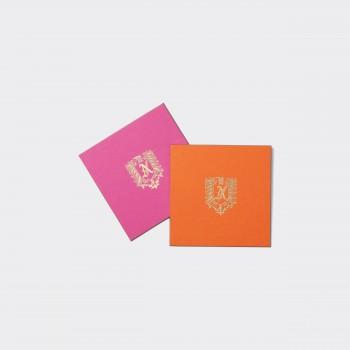 Sous-verre : Orange/Rose
