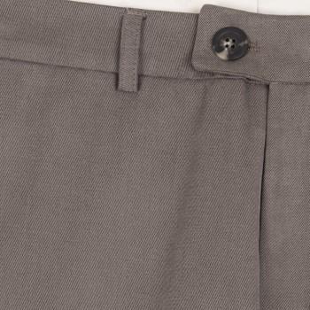 Pantalon Coton Peigné : Taupe