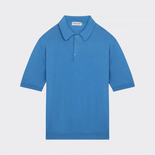 Polo Manches Courtes Coton : Bleu Clair
