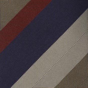 Cravate Club Soie : Marine/Rouge/Beige
