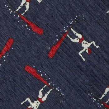 Cravate Surfeur Soie & Coton : Marine/Rouge/Blanc