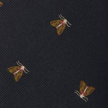 Cravate « Bug » Soie : Marine/Vert