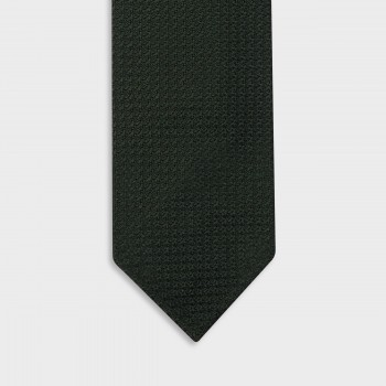 Cravate Grenadine De Soie : Vert Foncé