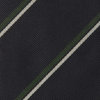 Cravate Rayures Club : Marine/Blanc/Vert