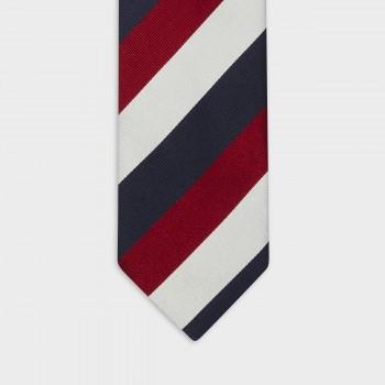 Cravate Rayures Club : Marine/Blanc/Rouge