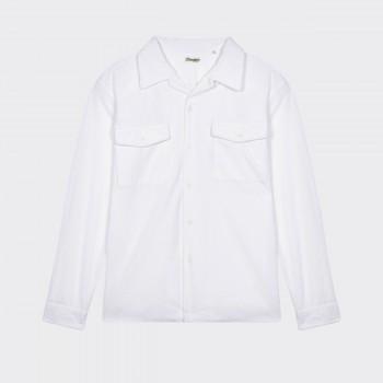 Surchemise Velours Côtelé Coton : Blanc