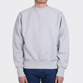 Sweatshirt Col Rond : Gris Chiné