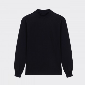 Mock Neck T-shirt : Black