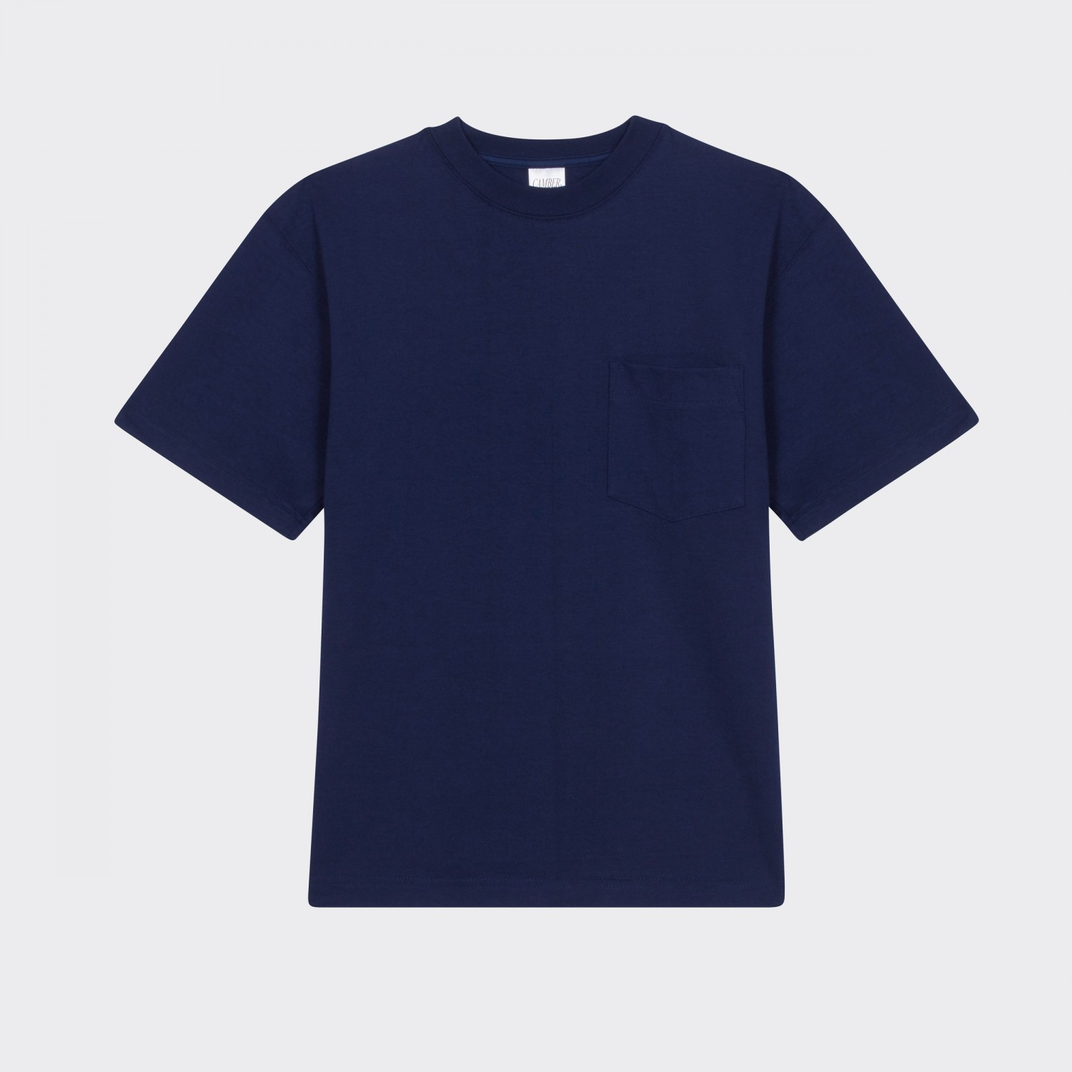 Camber usa pocket t shirt navy for T shirts that don t show sweat
