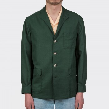 Summer Wool Teba Jacket : Dark Green