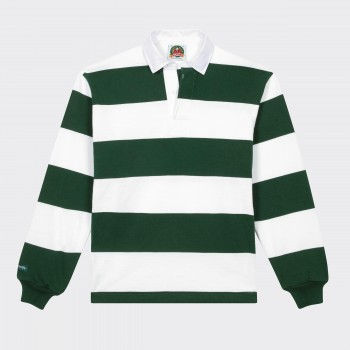 Striped Rugby Shirt : White/Green