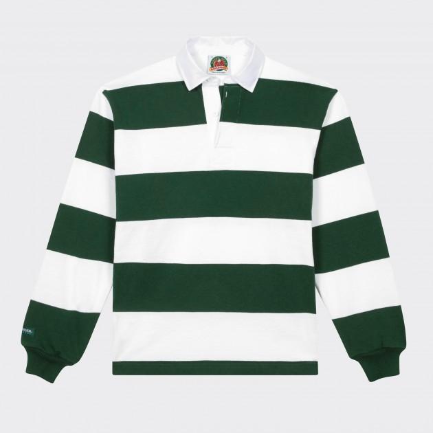 e0c1d1422c1 Barbarian : Striped Rugby Shirt : White/Green