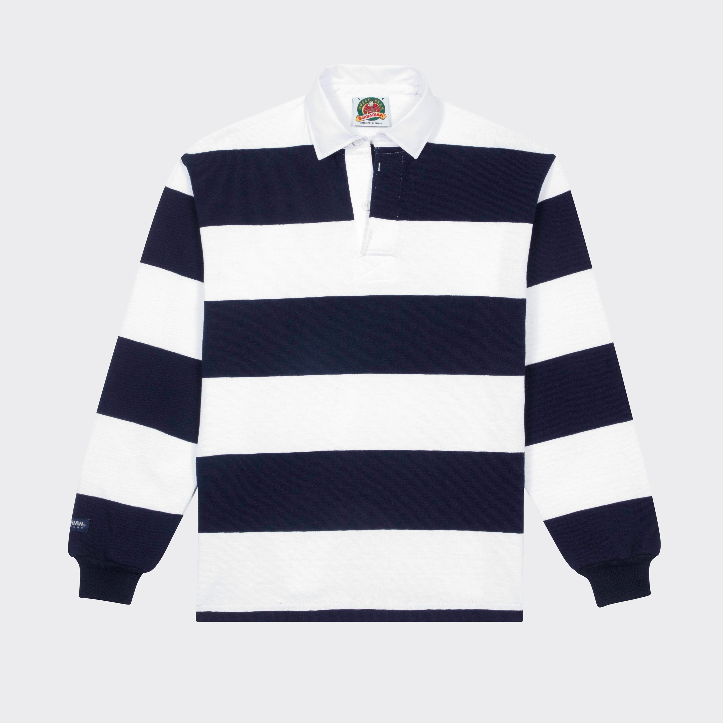 e2f995af64a Red And White Striped Rugby Shirt Mens - DREAMWORKS