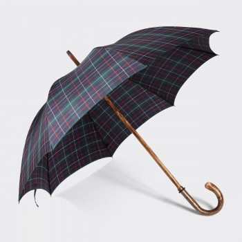 One-Piece Tartan Hazel Crook Umbrella : Navy/Green/Red/White