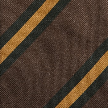 Cravate à Rayures Club : Marron/Vert/Jaune