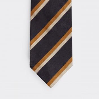 Regimental Tie: Navy/Orange/White