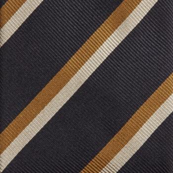 Cravate Rayures Club  : Marine/Orange/Blanc