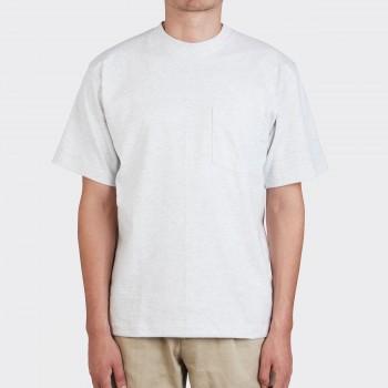 T-Shirt Poche : Gris Chiné