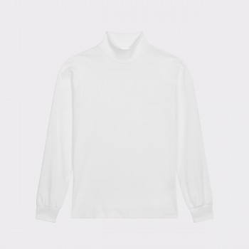 Mock Neck Light T-shirt : White