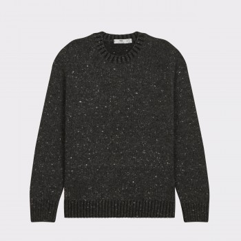 Pull Col Rond Donegal Laine Mérinos : Gris