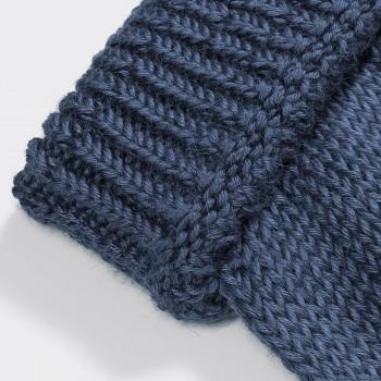 Bonnet Baby Alpaga Et Soie : Bleu  Pétrole