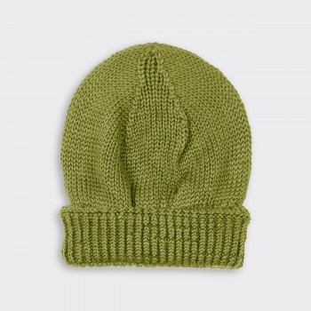 Bonnet Baby Alpaga Et Soie : Vert Anis