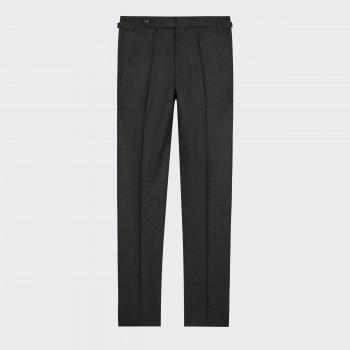 Pantalon en Flanelle : Gris Foncé