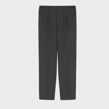 """""""Easy Pants"""" Twill de Laine : Gris"""