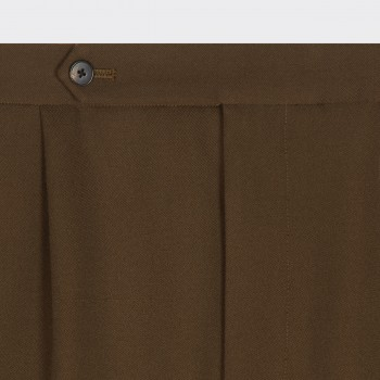 """Easy Pants""Cavalry Twill  : Olive"