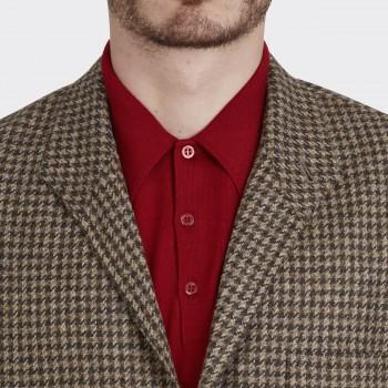 Teba Jacket Pied de Coq en Tweed : Marron/Beige