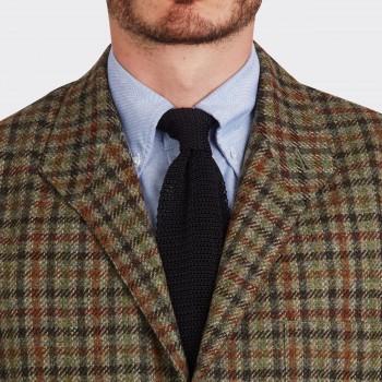 Teba Jacket Carreaux en Tweed : Marron/Rouille/Vert