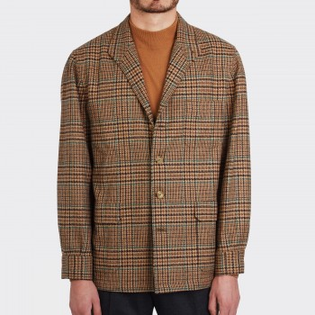 Teba Jacket Carreaux en Flanelle «  Fox  » : Marron/Vert