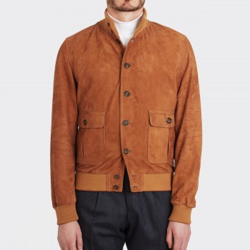 Blouson A-1 Suede : Tabac