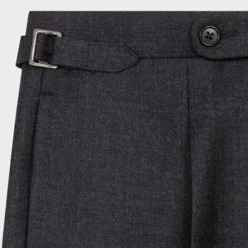 Pantalon en Serge de Laine : Gris Foncé