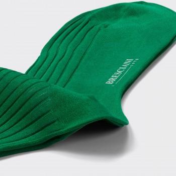 Chaussettes Mi-Bas Fil D'Ecosse Uni : Vert
