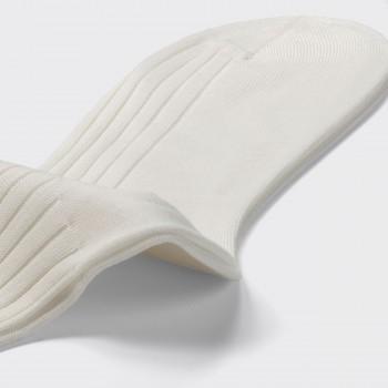 Chaussettes Courtes Larges Côtes : Blanc