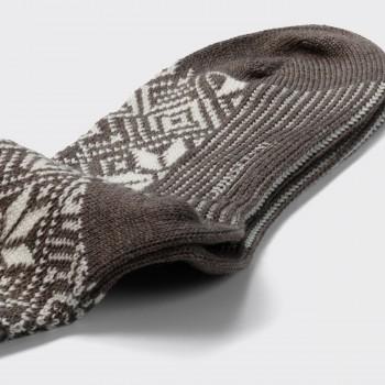 Chaussettes Courtes Norvégienne : Gris/Blanc