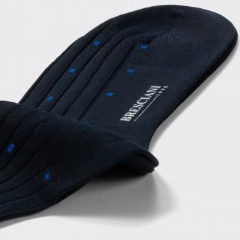 Chaussettes Mi-Bas Fil D'Ecosse : Marine/Bleu Roi