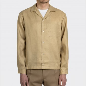 « Shirt-Jacket » Col Ouvert : Beige