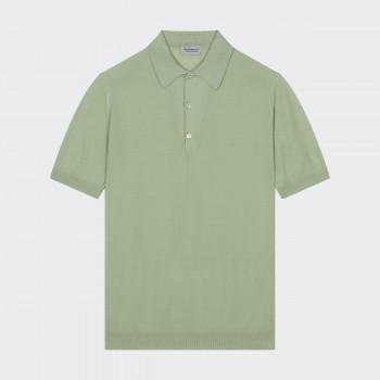 Polo Coton Texturé : Vert Pastel