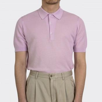 Polo Coton Texturé : Rose Pastel