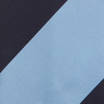 Cravate Club Soie : Marine/Bleu Ciel