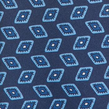 Cravate Motif « Œil » Soie: Marine/Bleu