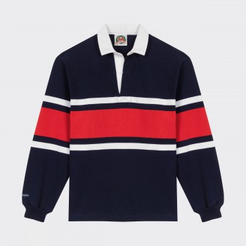 Polo Rugby : Marine/Blanc/Rouge