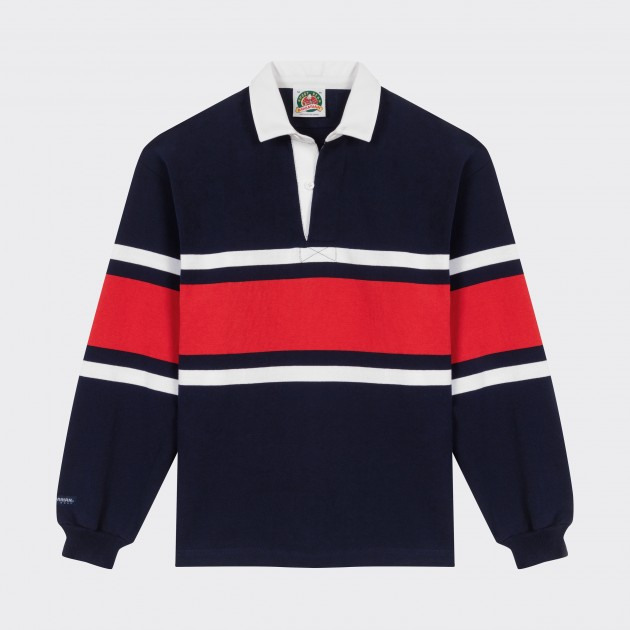 Striped Rugby Shirt Navy White Red