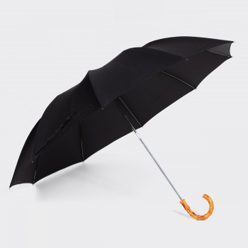 Parapluie Télescopique Bambou : Noir