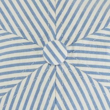 Casquette Seersucker : Bleu/Blanc