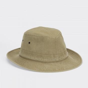 Chapeau Capri Roulable en Coton: Beige